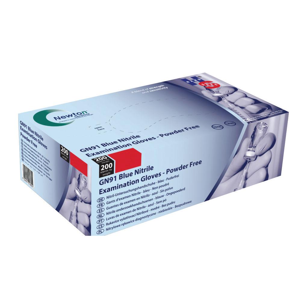 Handsafe Nitrile Gloves Powder-Free Large Blue (Pack of 200) - GN91L