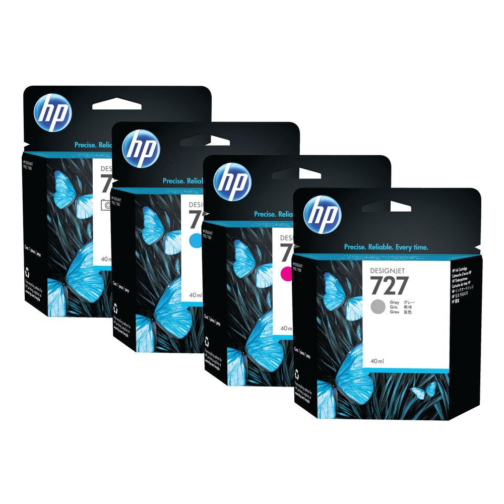 HP 727 Matte Black Photo Ink Cartridge C1Q12A