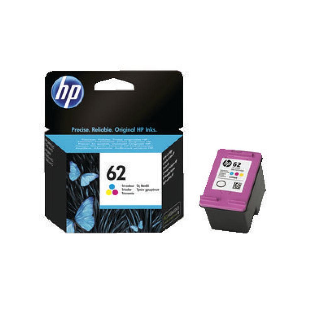 HP 62 Tri Colour Ink Cartridge - C2P06AE
