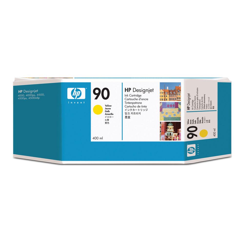 HP 90 Yellow Inkjet Cartridge High Yield 400ml C5065A