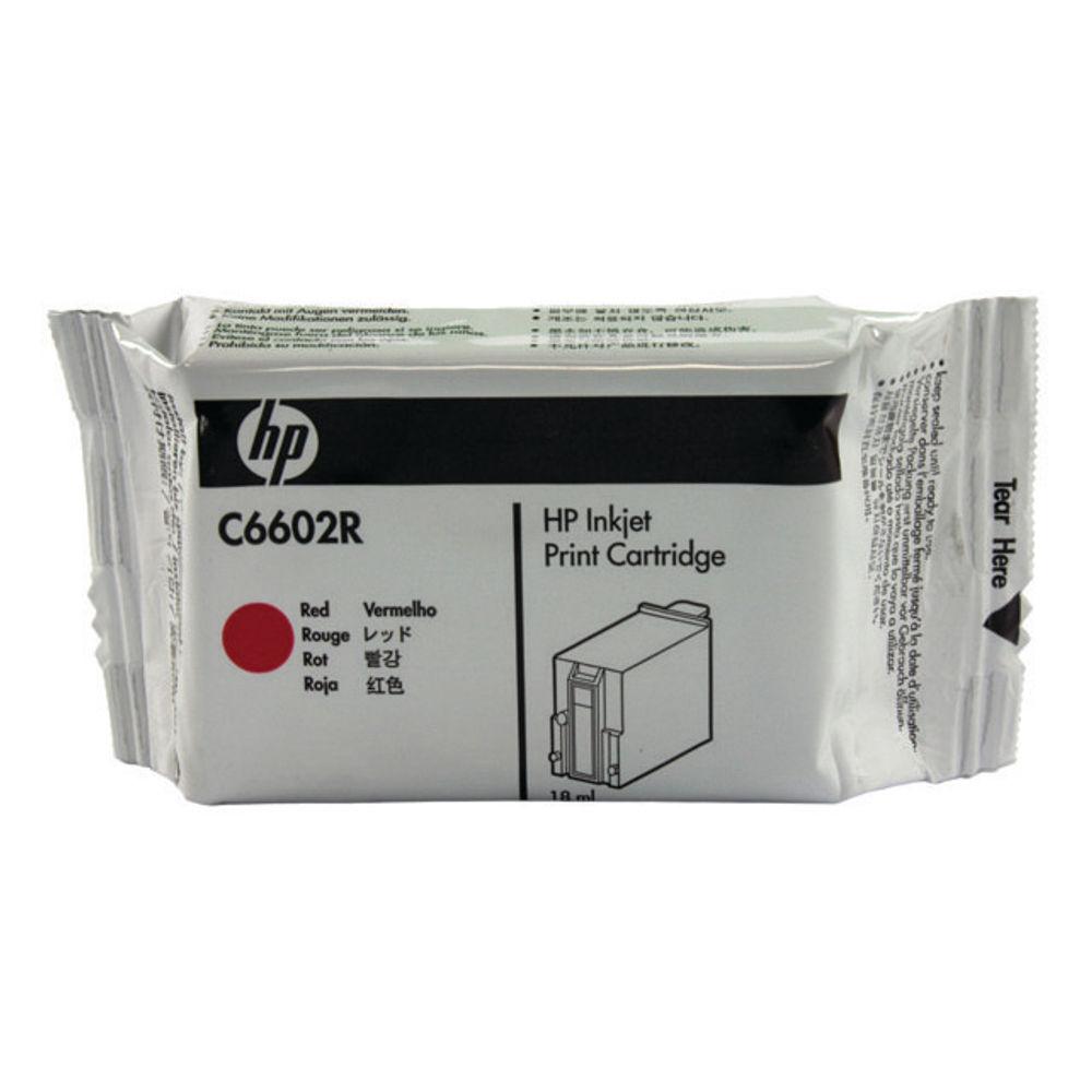 HP Red Ink Cartridge - C6602R