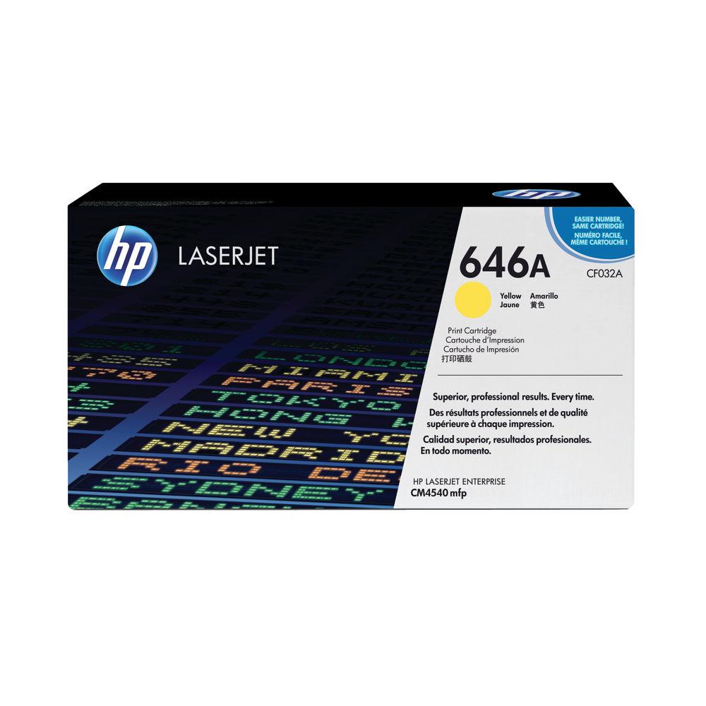 HP 646A Yellow Toner Cartridge - CF032A