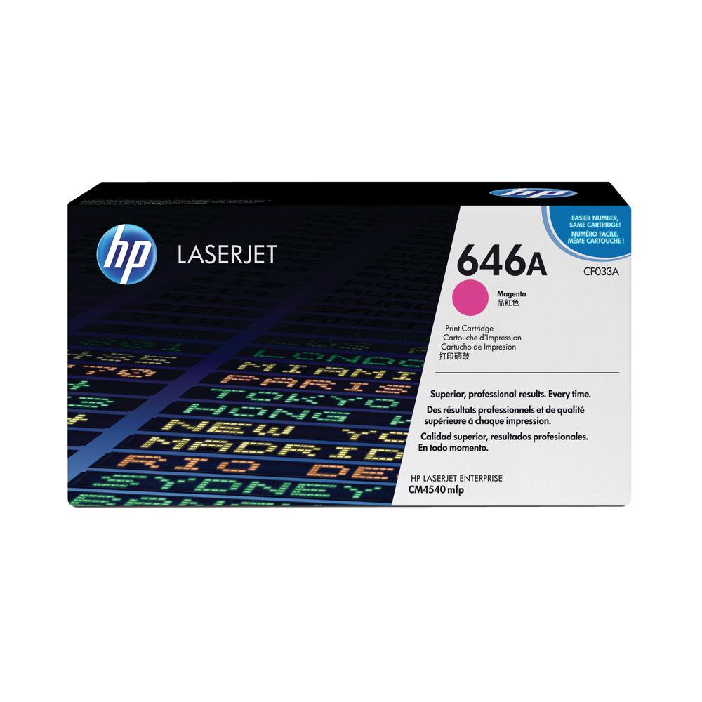 HP 646A Magenta Laserjet Toner Cartridge CF033A