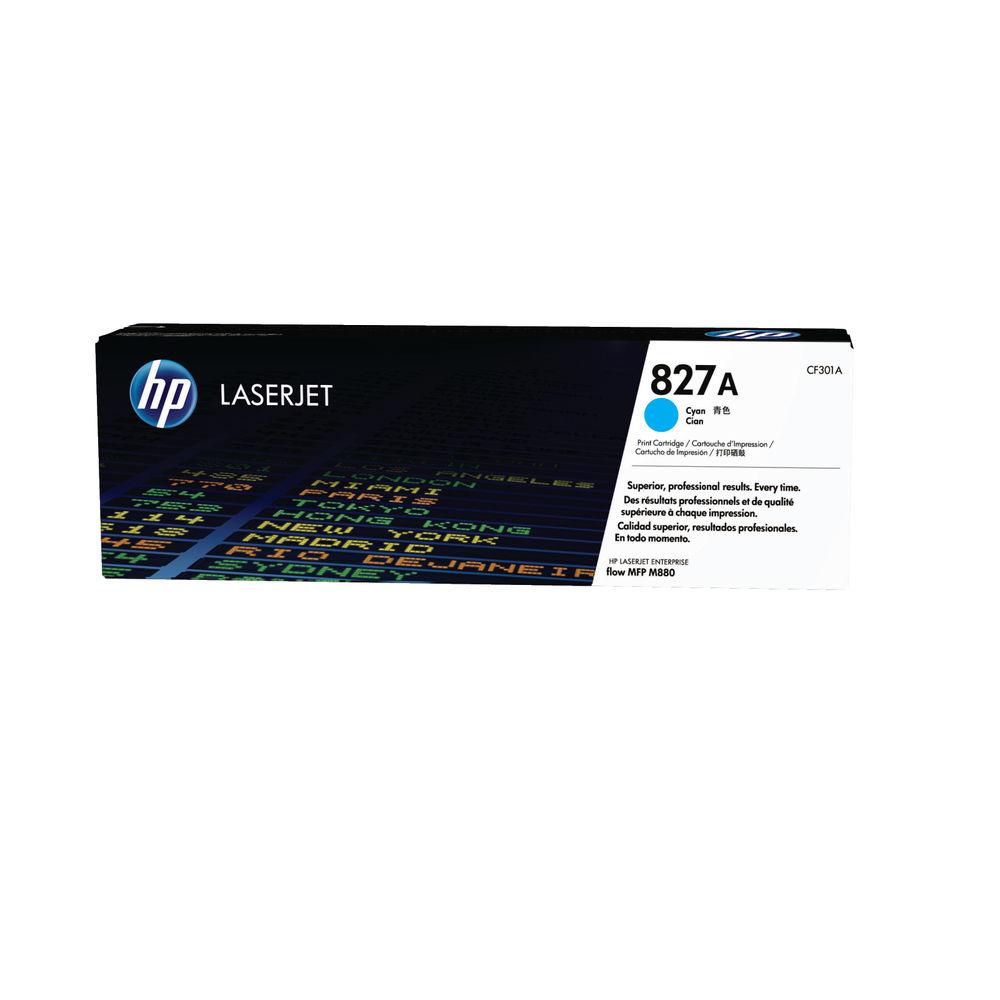 HP 827A Cyan Toner Cartridge - CF301A