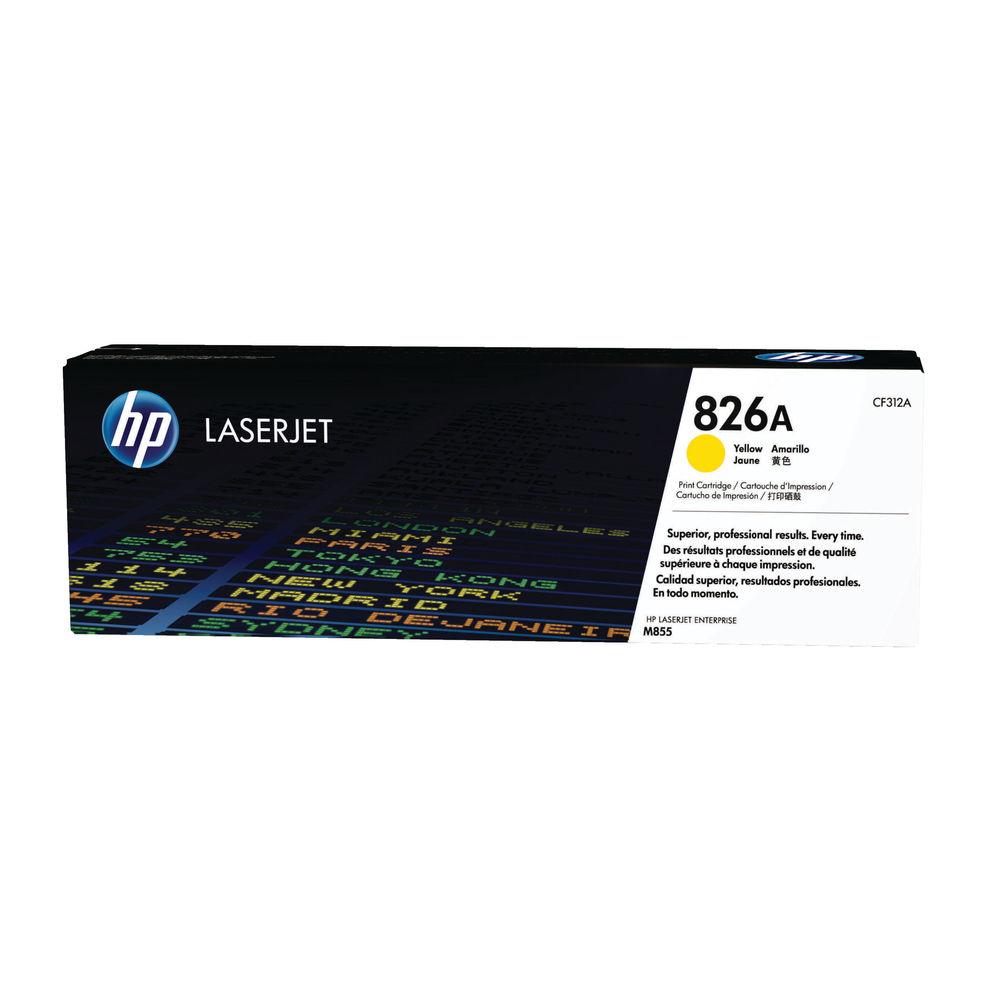 HP 826A Yellow Toner Cartridge - CF312A
