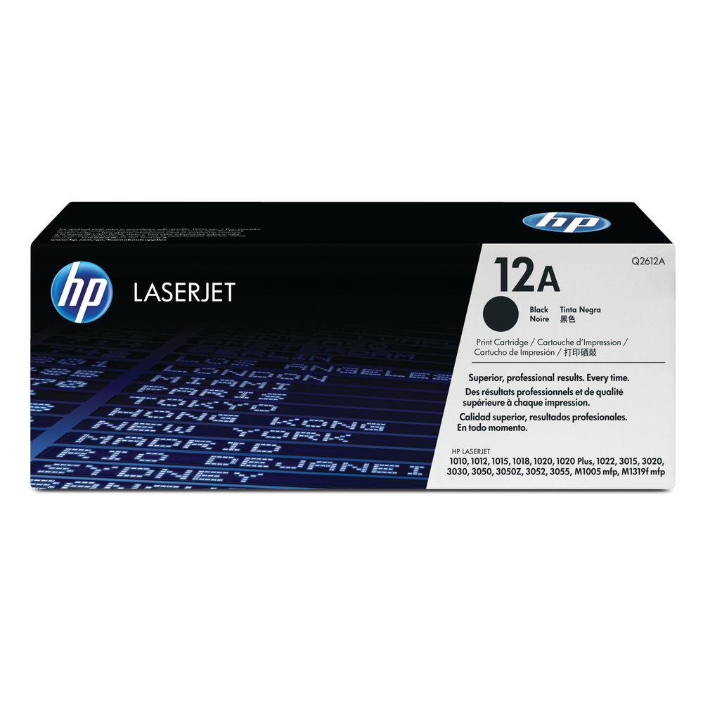 HP 12A Black Laserjet Toner Cartridge (Pack of 2) Q2612AD