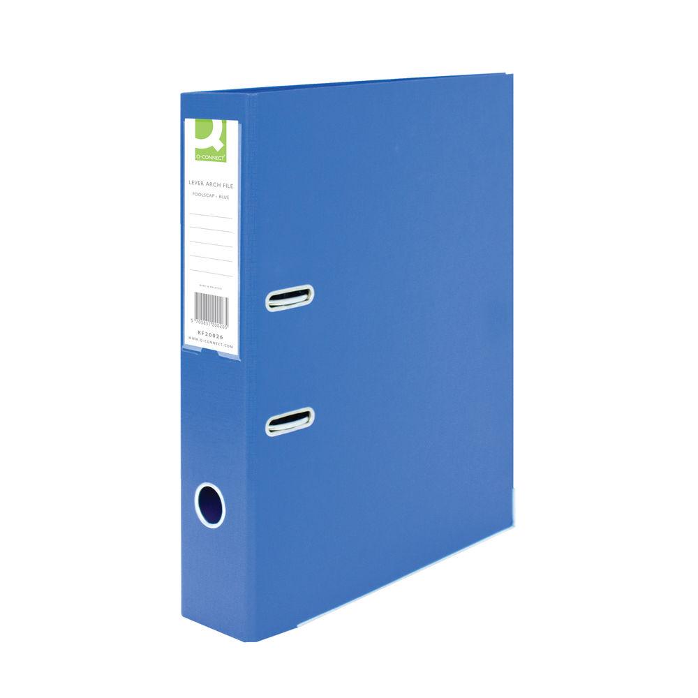 Q-Connect Foolscap Polypropylene Blue Lever Arch File 70mm  KF20026