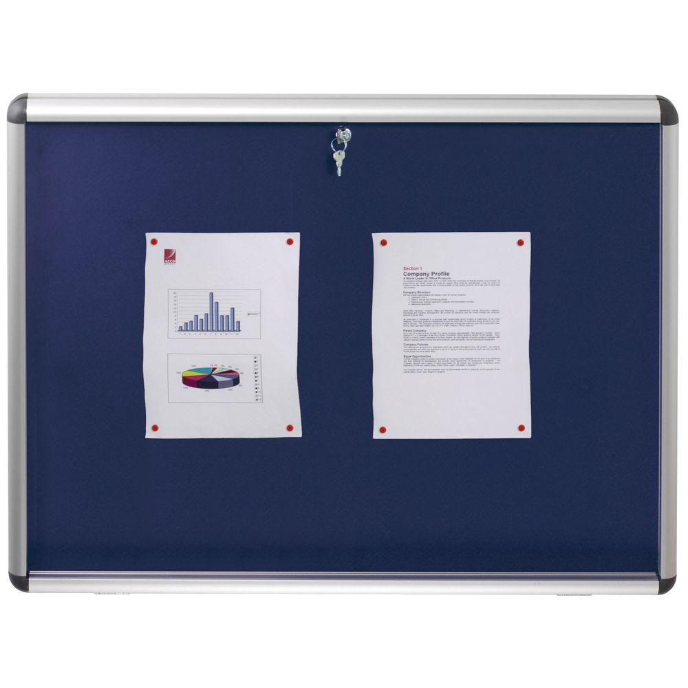 Nobo Lockable 965 x 665mm Visual Insert Board Blue - 1902048