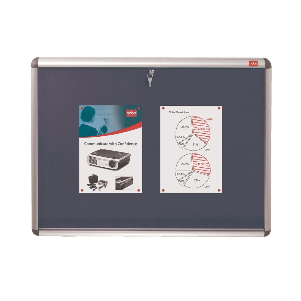 Nobo Internal Display Case A0 Blue Felt 1060x1350mm 1902049