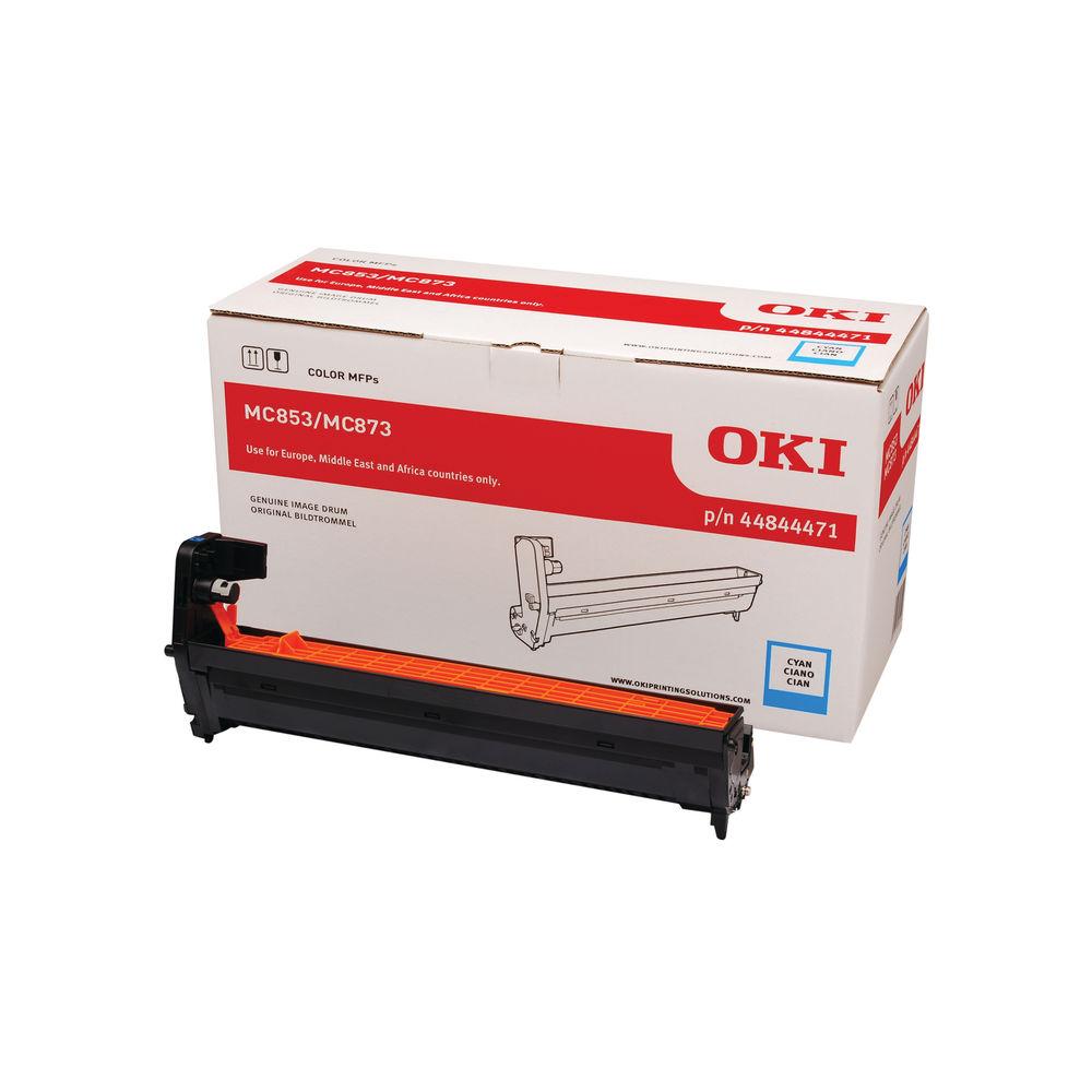 Oki MC853 MC873 30000 Pages Cyan Drum 44844471