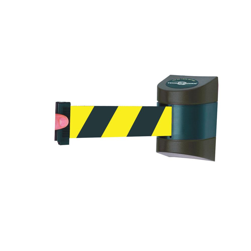VFM Black /Yellow Fully Retractable Barrier Wall Unit 4.6m 309839