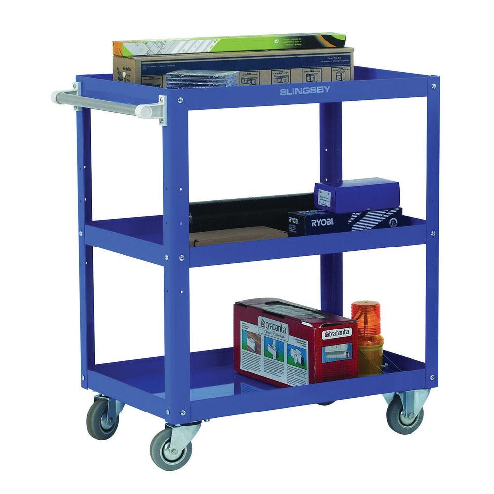 Works 3-Tier Trolley Blue (W500 x D820 x H900mm, 150kg Capacity) 329946