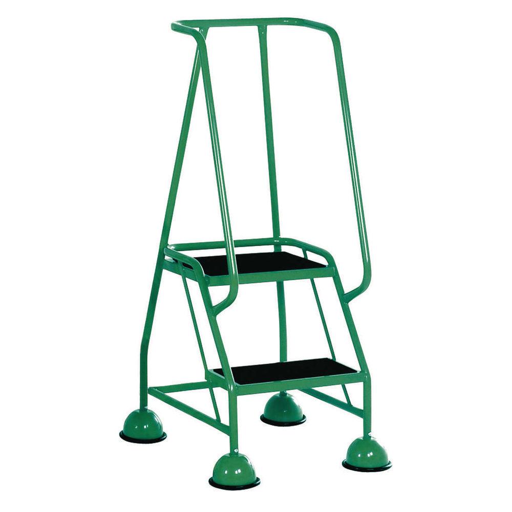 Green 2 Tread Steps Ladder (Load capacity: 125kg) 385132