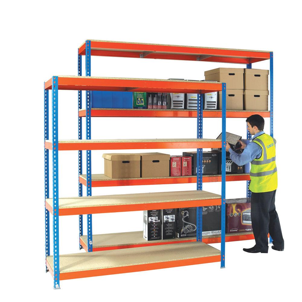 W1500 x D600mm Orange/Zinc Heavy Duty Painted Additional Shelf - 378853