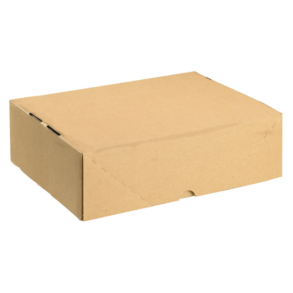 Brown A4 Cardboard Boxes with Lids - Pack of 10 - SO10417