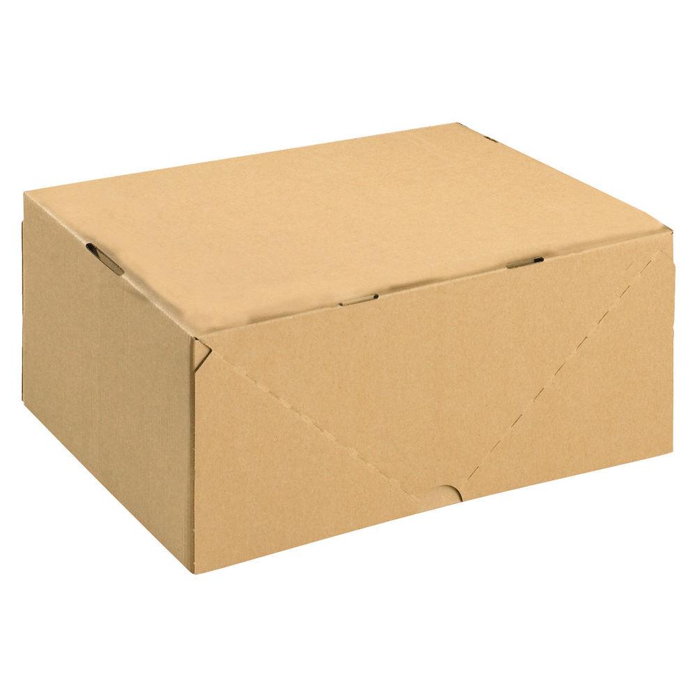 Basics Smart Box A4 Large Brown Cardboard Box & Lid - Pack of 10 - 144668114