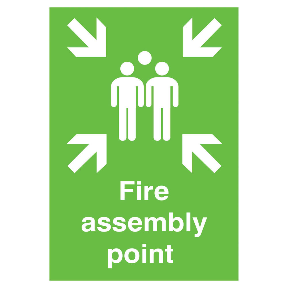Fire Assembly Point A2 PVC Safety Sign - FR04548R