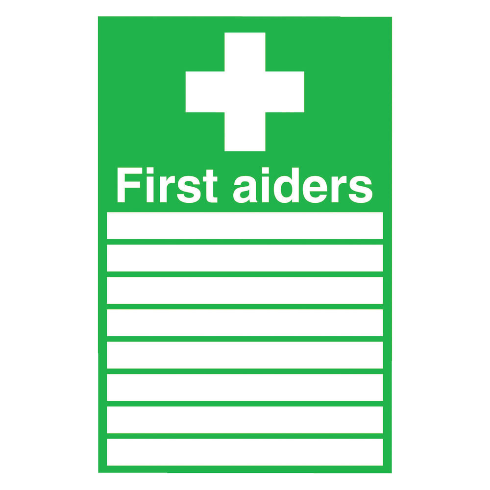 First Aiders 300 x 200mm PVC Safety Sign - FA01926R