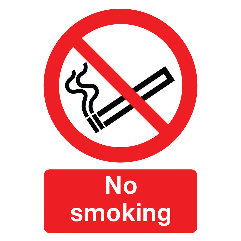 No Smoking A4 PVC Safety Sign - ML02079R