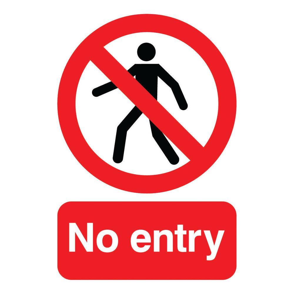 No Entry A5 Self-Adhesive Warning Sign - ML01751S