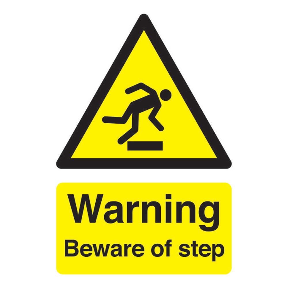 Warning A5 Self-Adhesive Beware of Step Safety Sign - HA21451S