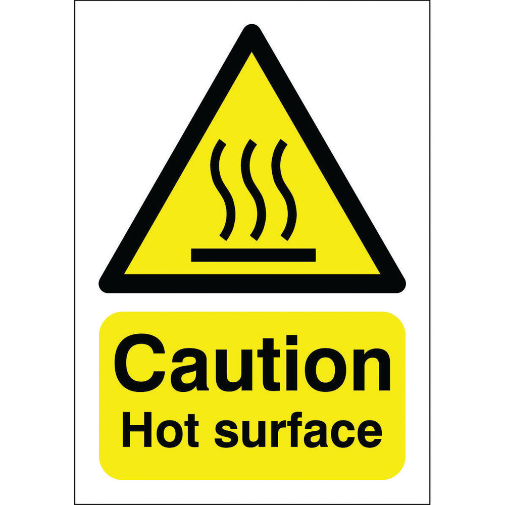 Caution Hot Surface A5 Self-Adhesive Safety Sign - HA04151S