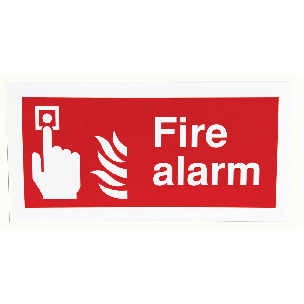 Safety Sign Fire Alarm 100 x 200mm - F90A/S
