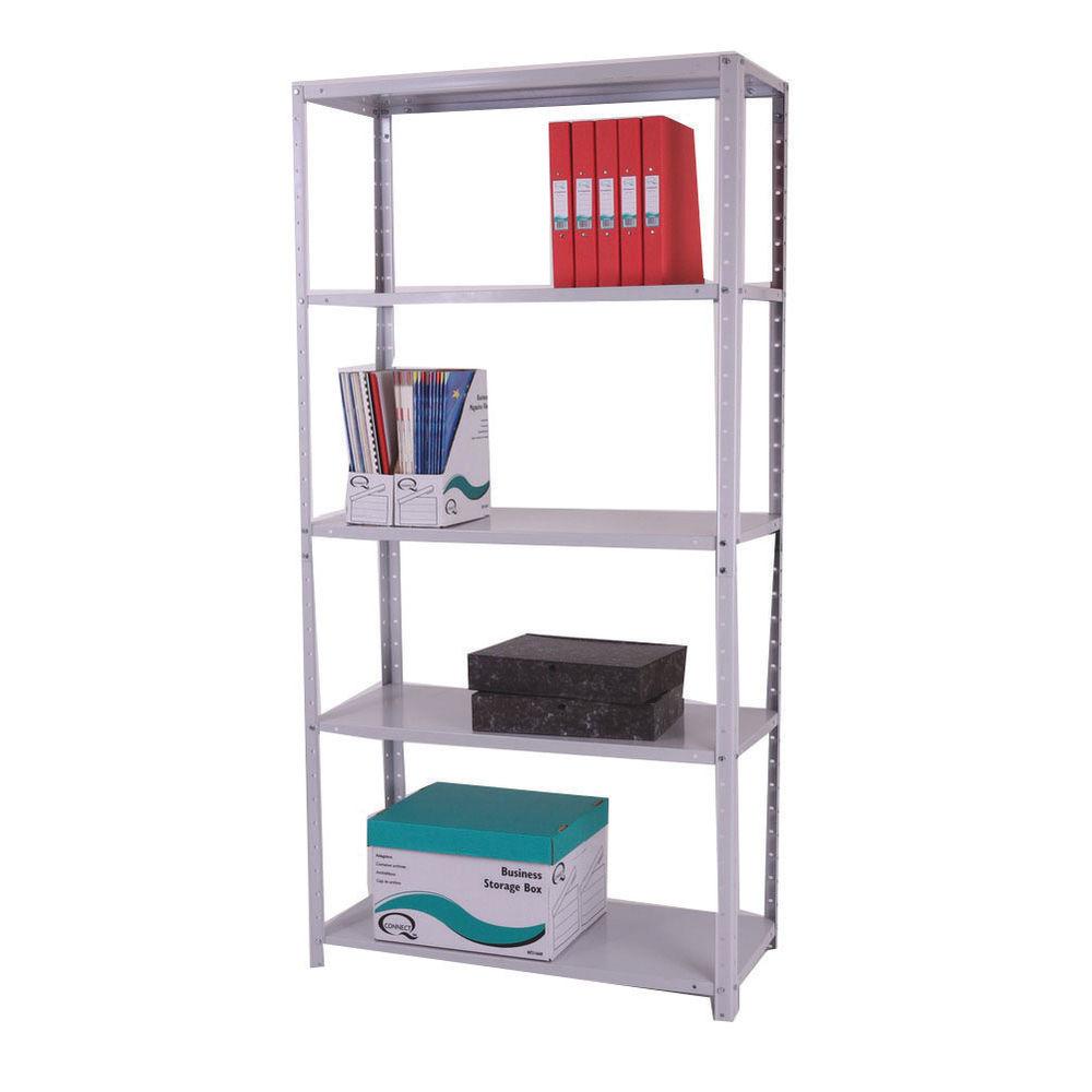 Storage Solutions Medium Duty Bolted 5-Shelf Unit D400mm Grey ZZBS5GR180C09040