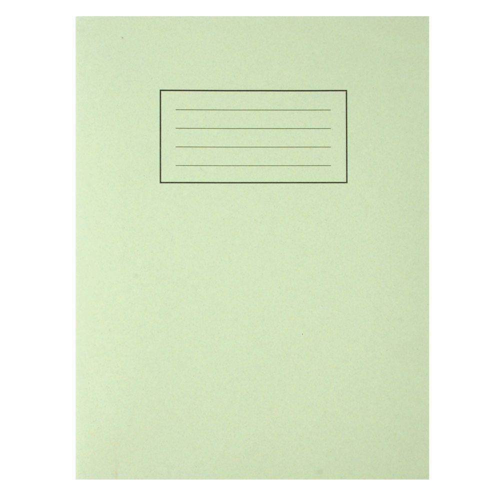 Silvine Green 229 x 178mm Exercise Books, Pack of 10 - EX102