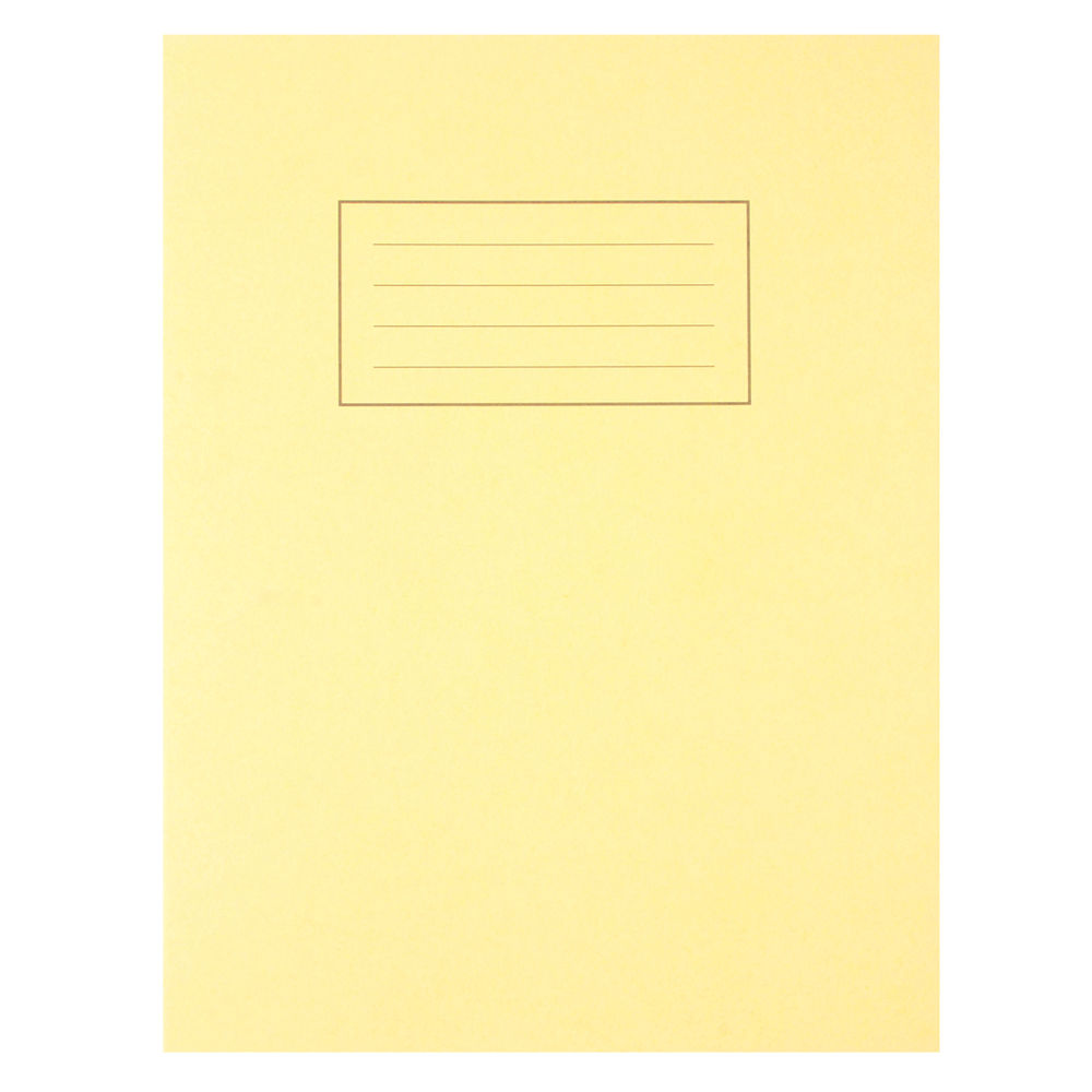 """Silvine Yellow 9 x 7"""" Exercise Books, Pack of 10 - EX103"""