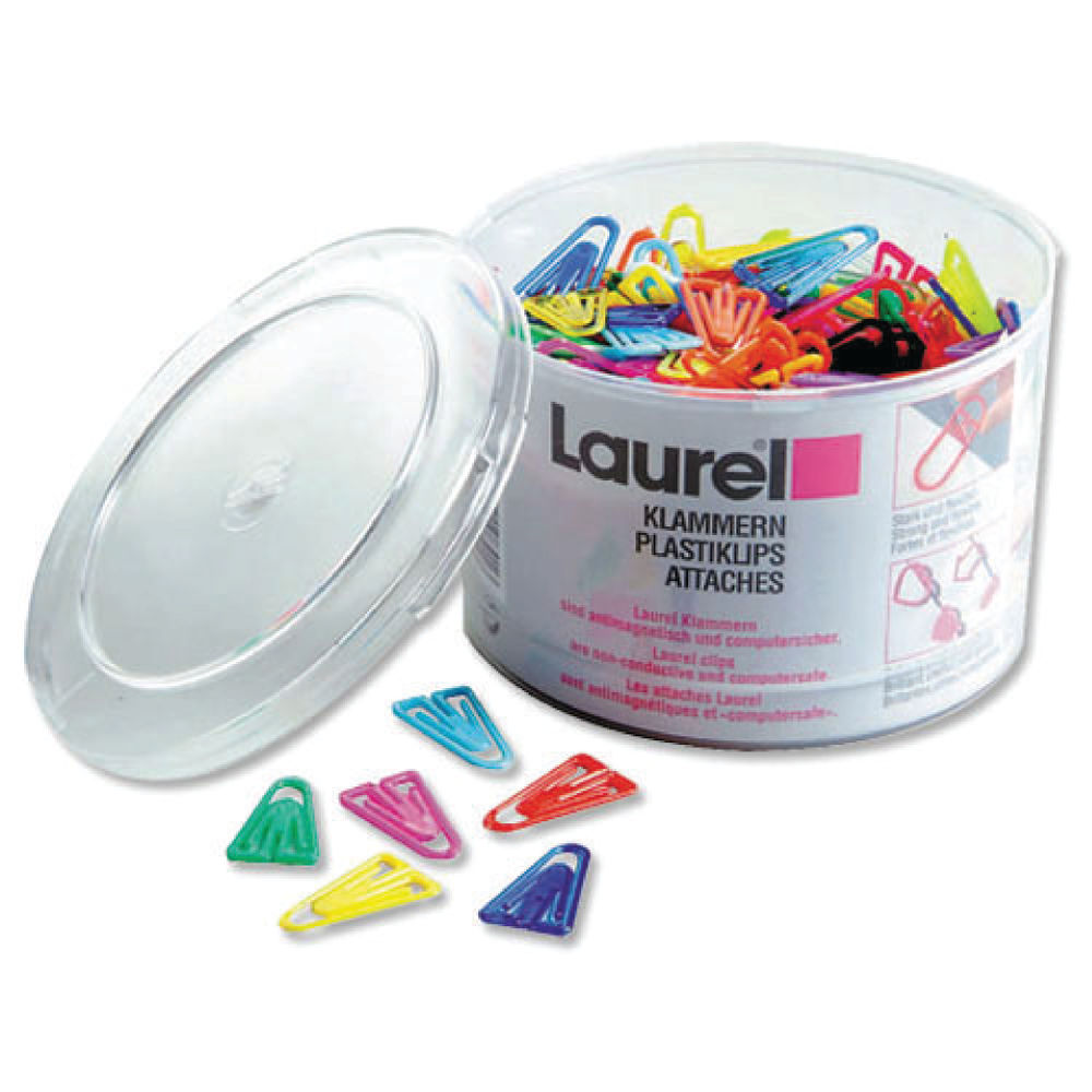 Laurel Assorted 60mm Plastic Paperclips, Pack of 75 - 126131399