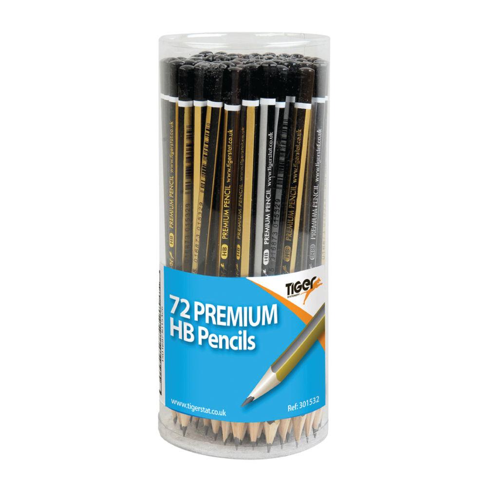 Tiger Assorted HB Pencils Display Pot, Pack of 72 - 301532