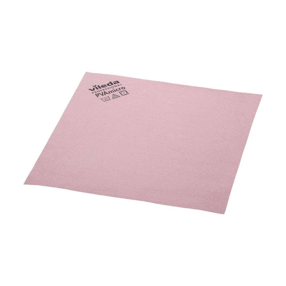 Vileda Red PVA Microfibre Cloths, Pack of 5 - 143586