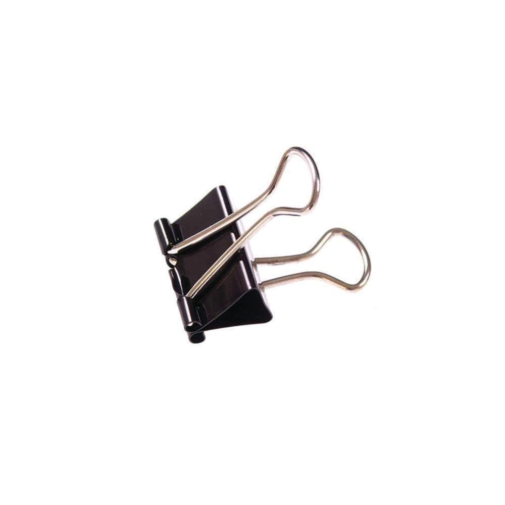 Black Metal Foldback Clips 32mm (Pack of 100) 23081