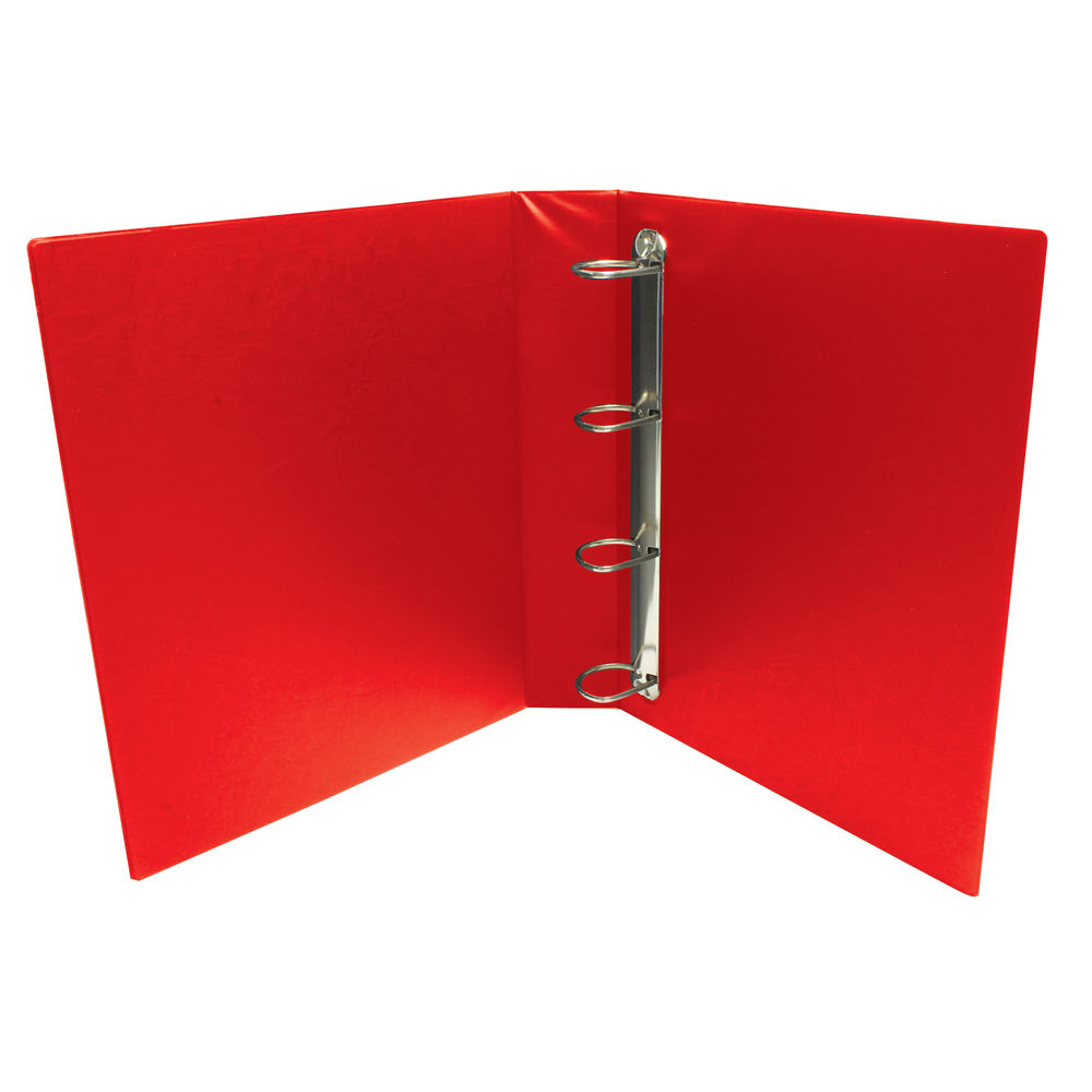 Red A4 25mm 4 D-Ring Presentation Binders, Pack of 10 - WX01326