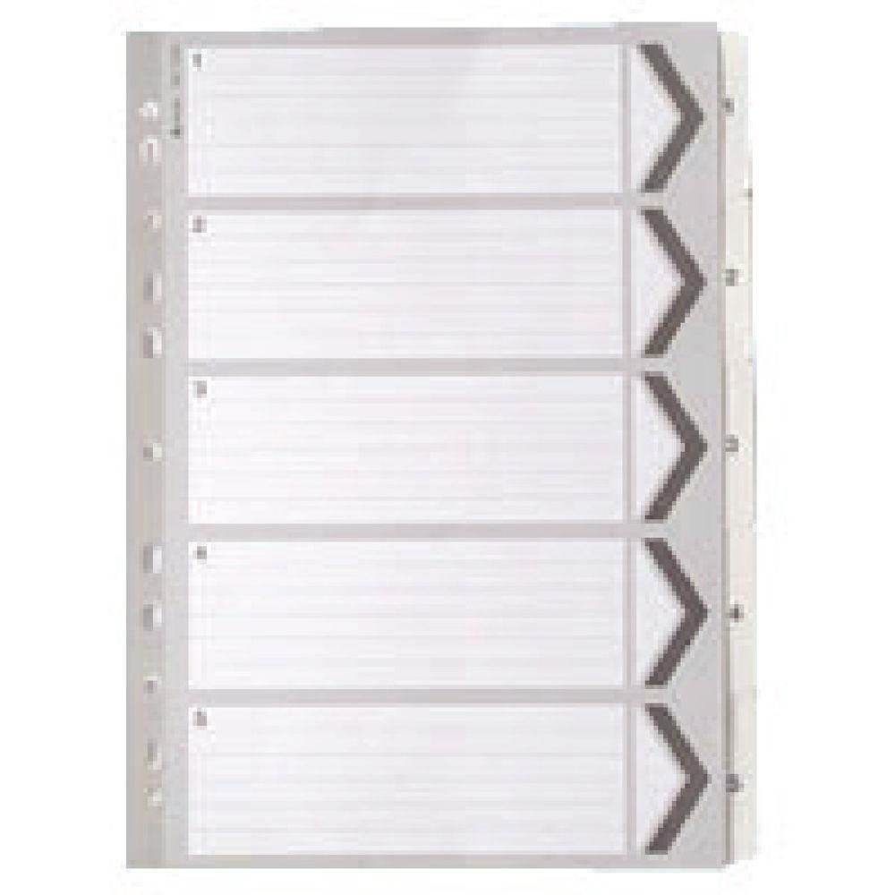 A4 White 1-5 Mylar Index - WX01527