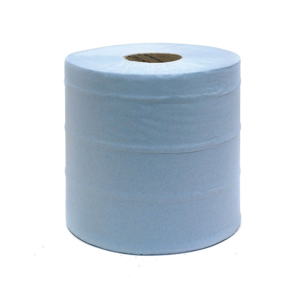 Blue 2-Ply 150m Centrefeed Roll, Pack of 6 - CBL150S