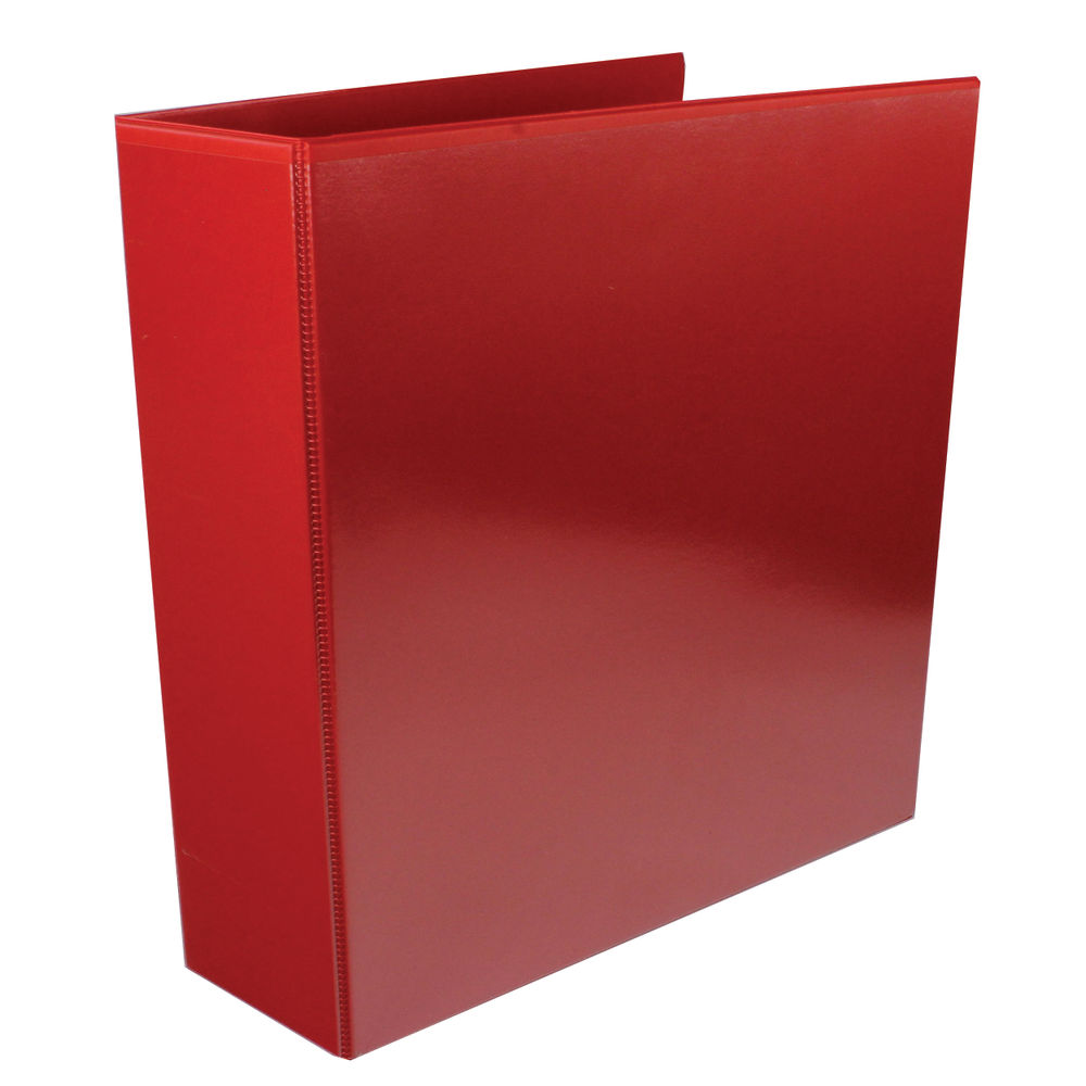 Red A4 65mm 4 D-Ring Presentation Ring Binders, Pack of 10 - WX70296