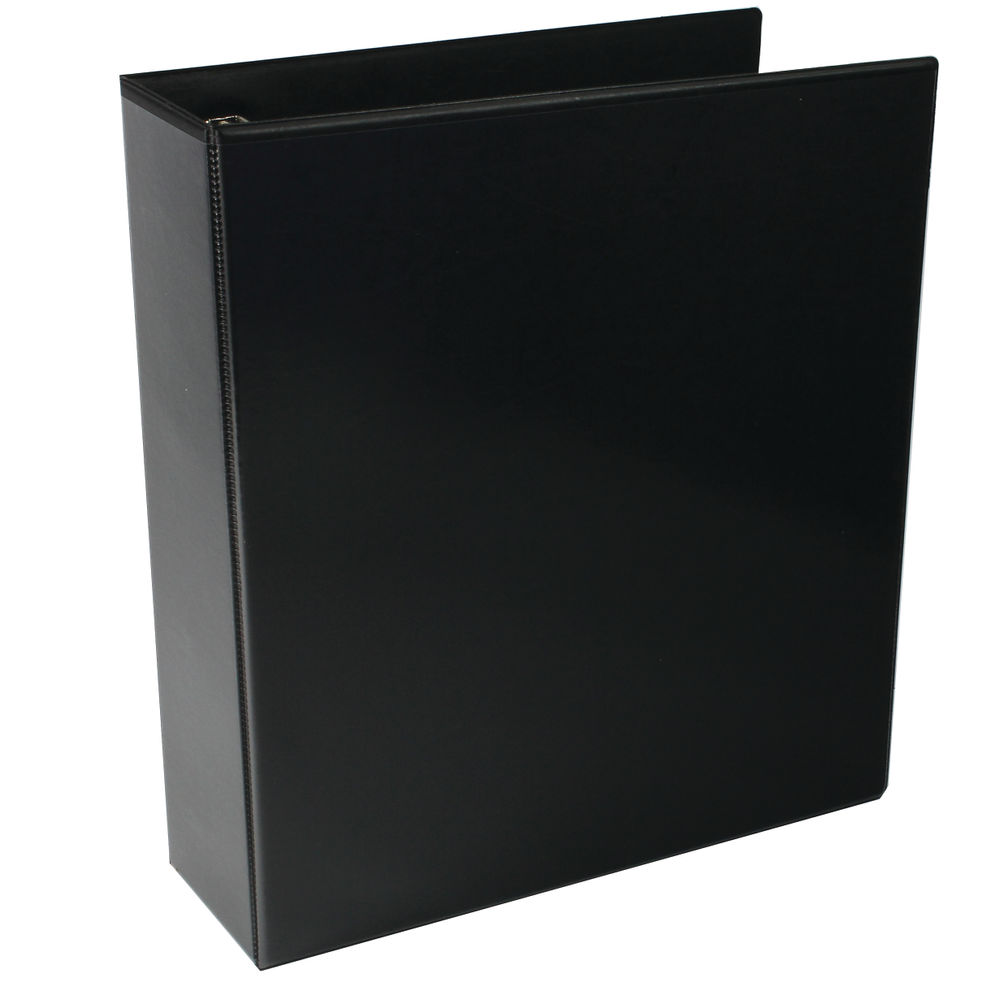 Black A4 65mm 4 D-Ring Presentation Ring Binders, Pack Of