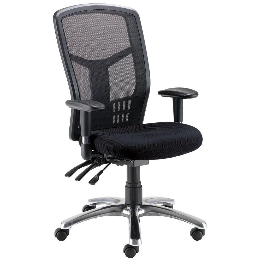Arista Logan Black Mesh Operators Office Chairs