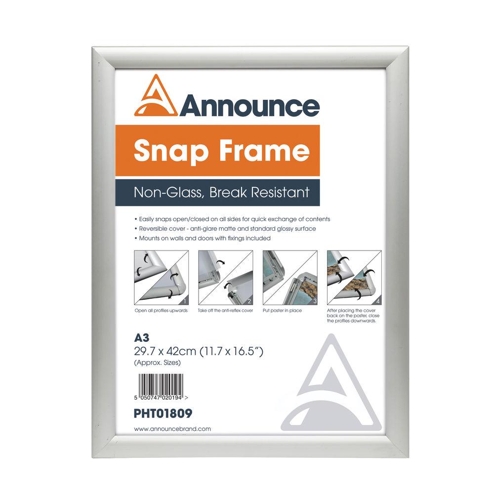 b64b8004531 Announce Silver A3 Snap Frame - SNAPA3
