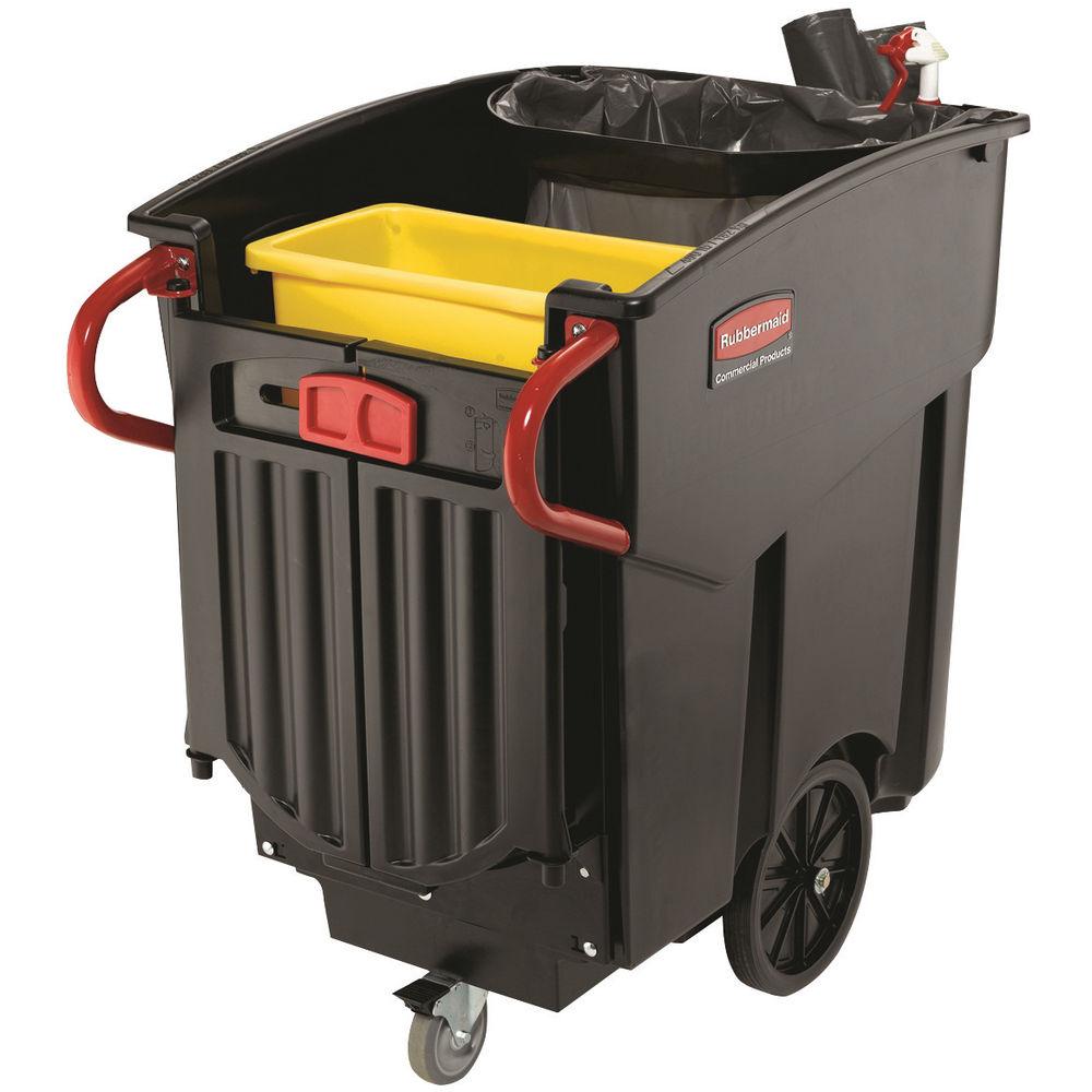 Rubbermaid 450 Litre Black Mega Brute Mobile Waste Collector - 9W71-00-BLA