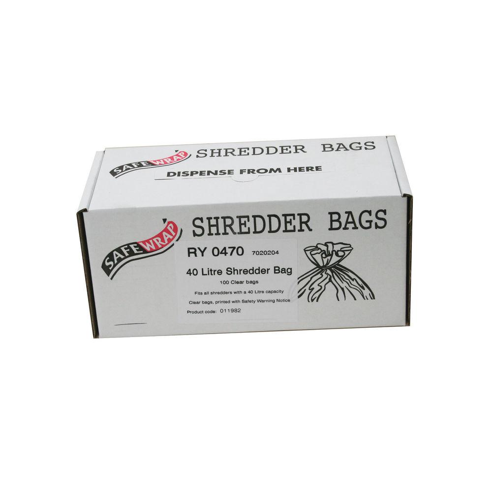 Safewrap Shredder Bag 40L, Pack of 100 - RY0470