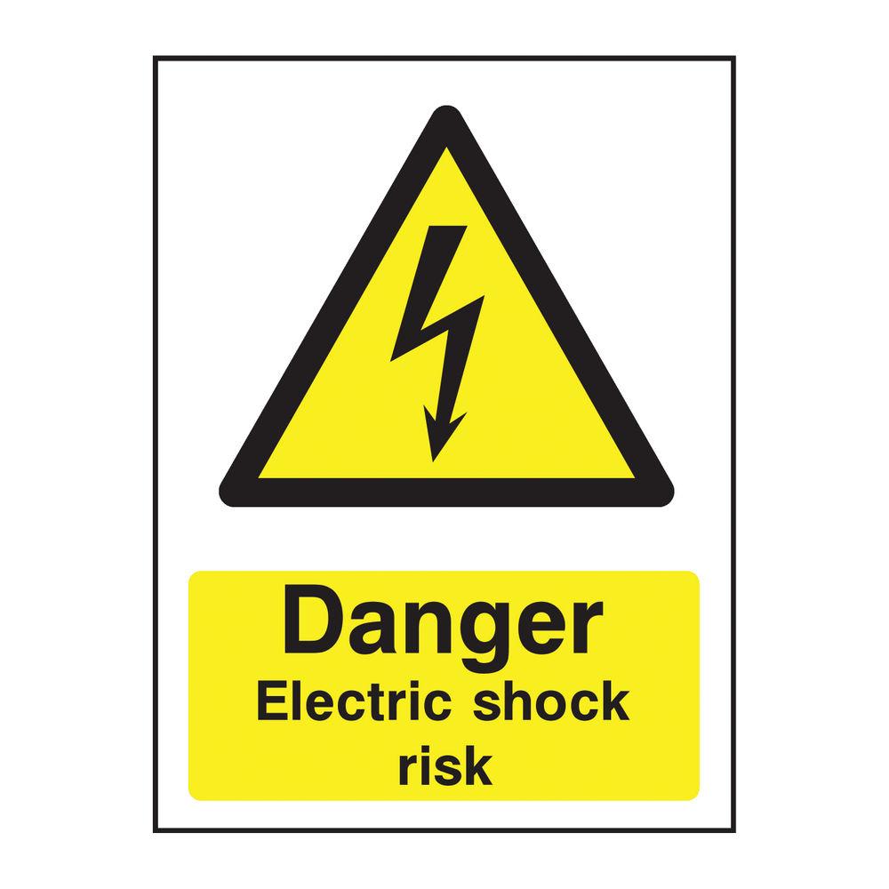 Danger A5 PVC Electric Shock Risk Warning Sign - HA10751R