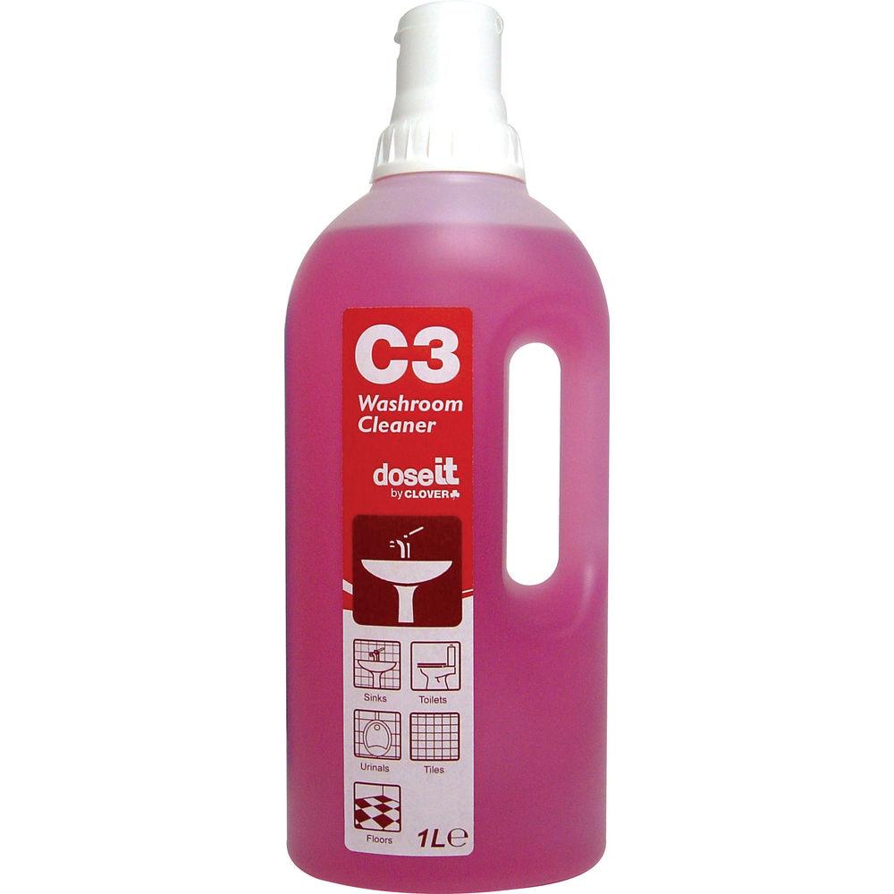 2Work C3 Washroom Cleaner 1 Litre (Pack of 8) - 533 EON