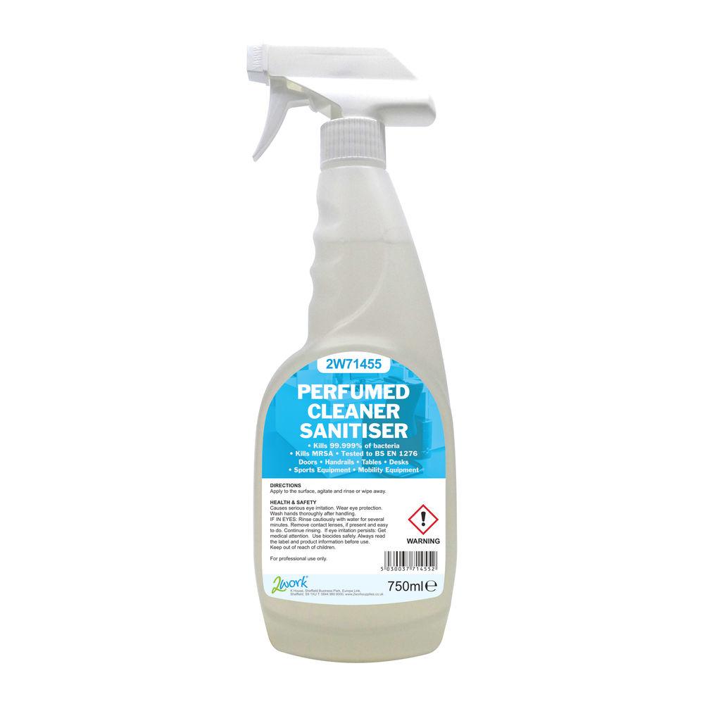 2Work Perfumed Cleaner Sanitiser Spray 750ml - 211SVW