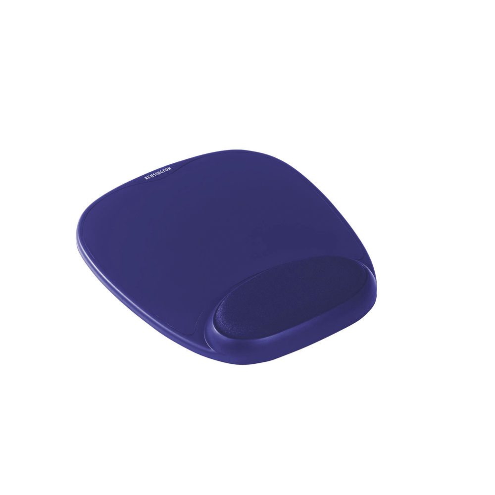 Kensington Blue Foam Mouse Pad with Wrist Rest Pad - 62471