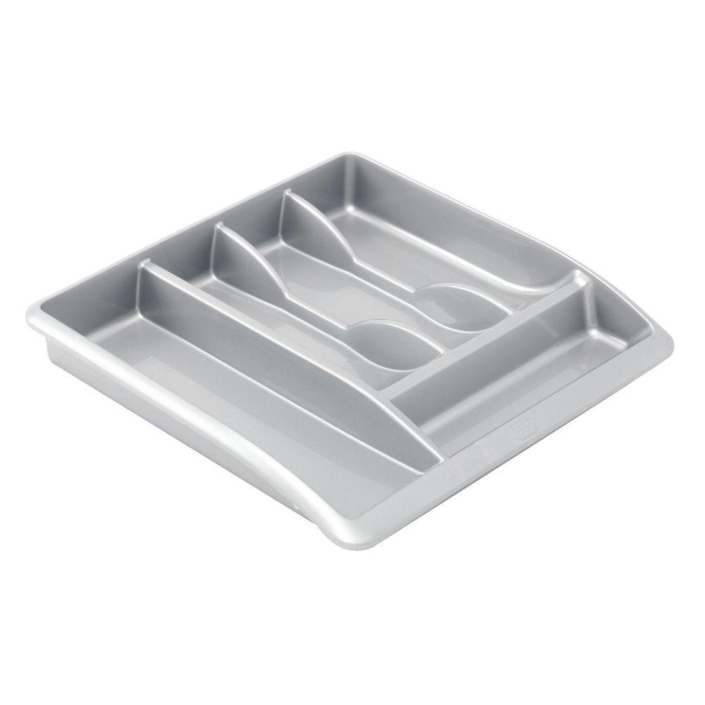 Addis Cutlery Tray Metallic Grey 510855