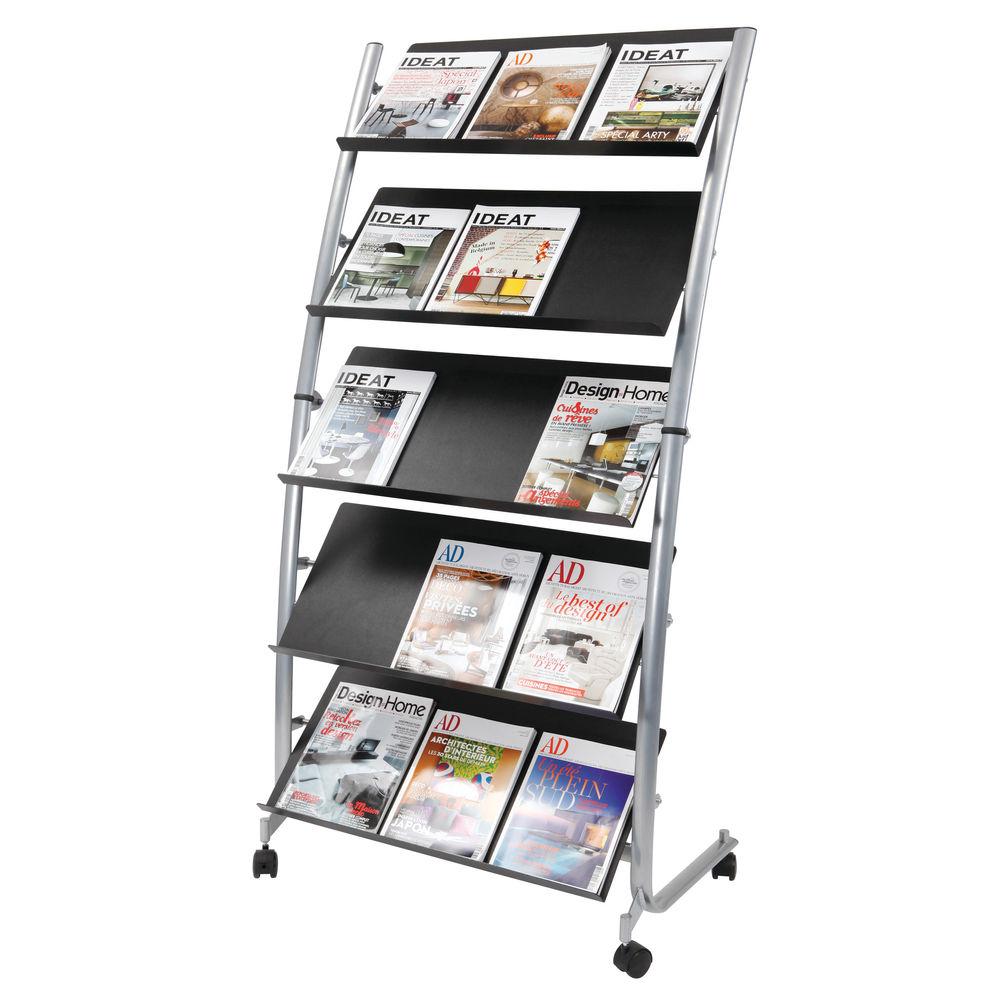 Alba 5 Shelf Mobile Literature Stand – DD5GM