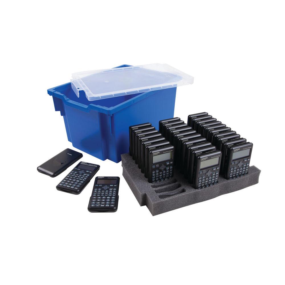 Aurora Black Dot Matrix Scientific Calculator Class Kit (Pack of 30) - CK59